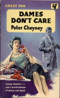 Sam Peffer: Dames Don't Care by Peter Cheyney / Pan G352, 1960