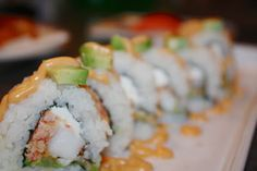 homemade shrimp tempura rolls!