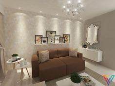 O pedido da cliente era transformar esta sala de estar antes sem vida em um ambiente moderno e aconchegante. Com os móveis e sofá em tons neutros, abusamos nas cores e estampas no conjunto de quadros e as almofadas, criando um ambiente com muita personalidade.
