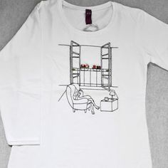 T-Shirt 3/4 Donna Reading Room by Tuo tua