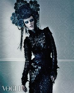 Will Falize for Vogue Italia - Gothic vampire look mashes with Imperial Peking, by the look of it