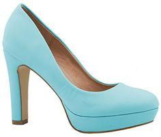 Bleu Clair Talons Hauts Modernes Pompe Chaussures Femme