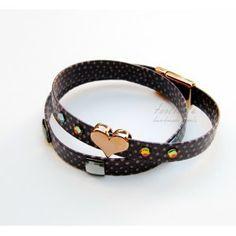 Purple Double-Wrap & Heart Bracelet #leather bracelet Heart Bracelet, Bracelets, Purple, Leather, Jewelry, Fashion, Moda, Jewlery, Bijoux