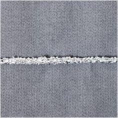 mood fabric Silver Braided Cord