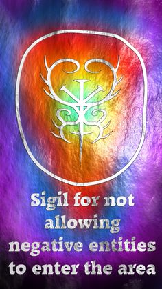Sigil for not allowing negative entities to enter the area Here you go my friend. Thank you for the request, I appreciate it. Sigil requests are open!