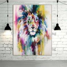 1000 id es sur le th me peinture de lion sur pinterest peinture tigre art - Acheter une peinture sur toile ...