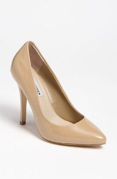 """Steve Madden 'Intrude' Pump. Approx. heel height: 4 1/2"""".  Patent leather upper/synthetic lining and sole. imported. $59.90"""