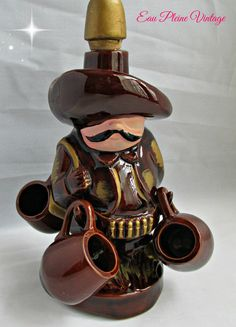 Hey, I found this really awesome Etsy listing at https://www.etsy.com/listing/222288635/mexican-ranchero-tequila-shots-decanter