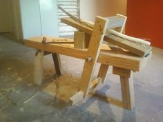 The first shave horse I made.