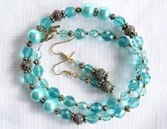 Hey, I found this really awesome Etsy listing at https://www.etsy.com/listing/76109403/turquoise-blue-beaded-necklace-and