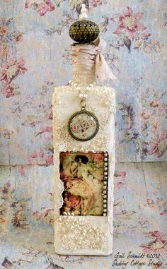 Shabby Cottage Studio - Blog - Art Bottle, Market Bag