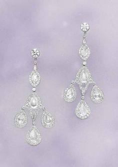 PHILLIPS : CH060108, , A Pair of Diamond Earpendants