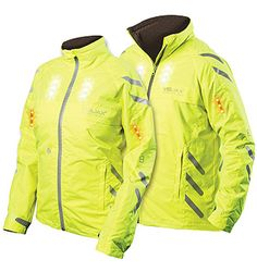 Cycling jacket with LED lights