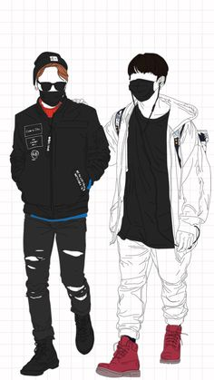 Jimin & Jungkook LineArt ♥ BTS ♥