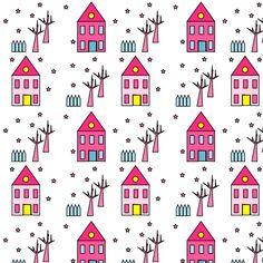 Free digital houses scrapbooking paper - ausdruckbares Geschenkpapier - freebie   MeinLilaPark