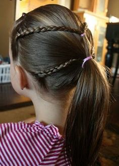 Girly Do Hairstyles: By Jenn: Growing Pains. Teen Girl Hairstyles, Childrens Hairstyles, Cute Hairstyles For Kids, Up Hairstyles, Braided Hairstyles, Belle Hairstyle, Hair Game, Braids For Long Hair, Short Hair