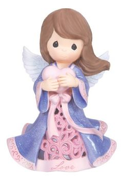 Item Number: 133400 Material: Stone Resin Weight: 0.85 lb Dressed in flowing robes of pink and purple, this illuminated angel is truly a vision! An unforgettable messenger of love, she lights up with