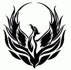 Phoenix silhouette afghan graph pattern - via Phoenix Bird Images, Phoenix Bird Tattoos, Phoenix Tattoo Design, Phoenix Tattoo For Men, Body Art Tattoos, Tribal Tattoos, Black Tattoos, Cool Tattoos, Tatoos