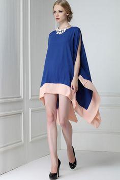 Handkerchief Hem Chiffon Dress - OASAP.com