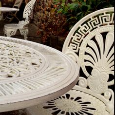 Wrought Iron Garden Furniture - WANT