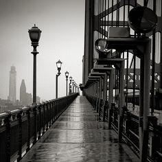 Ben Franklin Bridge Walkway   (Philadelphia ) (via Michael Penn Photography)    (via classics:pdl2h:black-and-white:kari-shma)