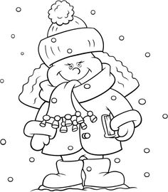 ... Winter kleurplaten on Pinterest   Winter, Snowy day and Coloring pages