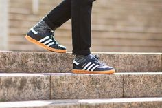"""adidas – Hamburg (Made in Germany) The adidas Hamburg is one of the most iconic silhouettes and adidas is paying homage to Germany's second largest city with two distinct polished Made in Germany mock-up's. The Hamburg first struck out in the early 1980's as part of adidas's """"City Series,"""" becoming a casual classic and a staple on the football terraces of 80's Europe."""