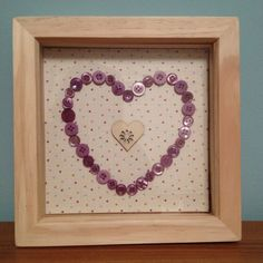 Hearts frame with purple buttons