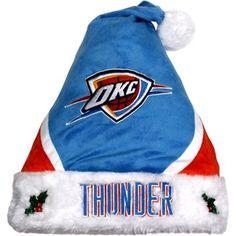 Oklahoma City Thunder Santa Hat
