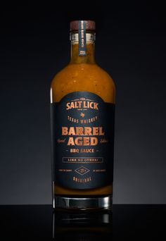 Salt Lick Whiskey Barrel-Aged BBQ Sauce — The Dieline - Branding & Packaging…