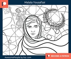 Malala Yousafzai is the youngest Nobel prize laureate to date. She is an activist for female education and is my hero! Malala Yousafzai, Nobel Prize, Power Girl, My Hero, Coloring Books, Colour, Education, Image, Vintage Coloring Books