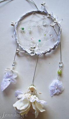 Flower Fairy Dream Catcher Snow Crystal Ice Fairy. $32.00, via Etsy.