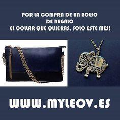En OCTUBRE por la compra de un bolso te REGALAMOS el collar que quieras visita www.myleov.es #bolsos #moda #accesorios #clutch #tiendasonline #myleov #PymesUnidas