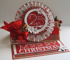 Rosette Easel Christmas Card And Tutorial.