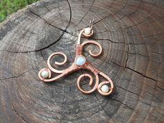 Celtic Triskel Pendant by LughAislingCelticArt on Etsy