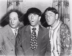 photo Three Stooges Moe Larry Shemp comedy short Scrambled Brains 3873-26