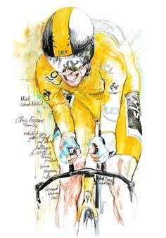Chris Froome, Team Sky, auf der 11. Etappe der 100. Tour de France 2013, er verteidigt sein gelbes Trikot, 100x70cm   Flickr - Photo Sharing...