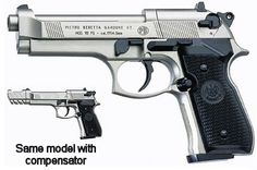 Beretta FS92, Nickel, Black Grips Air gun. It's not cheap, but it awesome. No Canadian PAL required to purchase and use. Come shoot it at Stormbringer Air-Gun Range and Supply. www.storm-bringer.ca