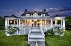DREAMING: Pinned for Hubby, because he really likes porches!...& this one ROCKS!!!!