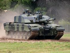British Challenger 2 during excercises