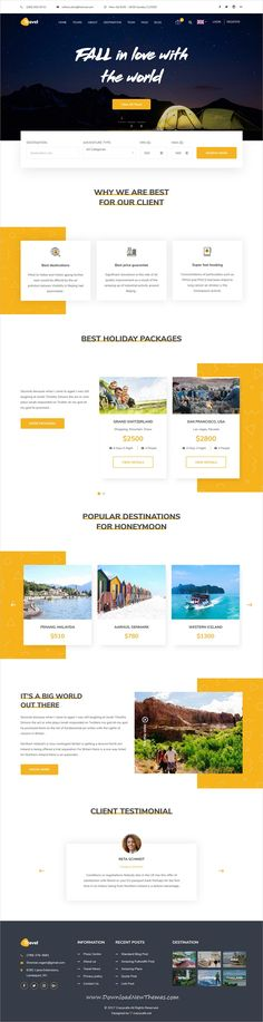 Travel is clean and modern design 3in1 responsive bootstrap #HTML5 template for #tour booking and #travel agency #website to live preview & download click on image or Visit  #hospitality