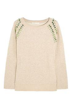 12 Comfy-Chic Jeweled Sweatshirts #refinery29  http://www.refinery29.com/embellished-sweatshirt#slide-5  ...