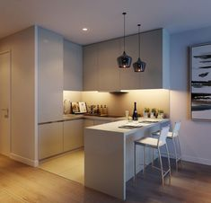 "London's Quintain Launches ""Alto"" in North West Village at Wembley Park Luxury Insider Kitchen Room Design, Best Kitchen Designs, Modern Kitchen Design, Living Room Kitchen, Home Decor Kitchen, Interior Design Kitchen, Home Kitchens, Luxury Kitchens, Kitchen Layout"