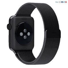 nice Apple Watch Band, PUGO TOP magneterico milanese eurolazos Reemplazo de muneca correa de acero inoxidable topfbander para Apple Watch astilla, para Apple Watch