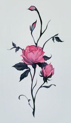 rose Art Print by Loish | Society6