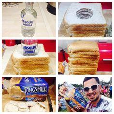 Genius! Sneak in your fave liquor in bread!