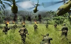 Men of War: Vietnam HD trailer drops Hueys, jungle, napalm in the morning - Vietnam History, Vietnam War Photos, Man Of War, My War, Ap World History, American History, Battlefield 2142, Ho Chi Minh Trail, Cool Pictures