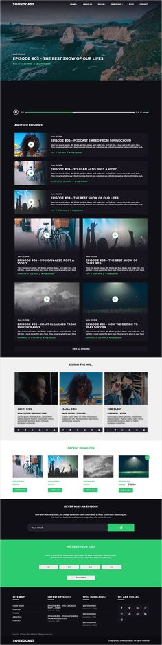 Soundcast is beautifully design responsive #WordPress theme for #podcast service #website with Audio, Video, SoundCloud and Donation support download now➩ https://themeforest.net/item/soundcast-podcast-wordpress-theme/16845445?ref=Datasata