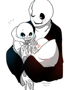 Baby Bones sans and papyrus with dadster gaster