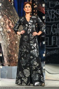 Kareena Kapoor showcases a design by Rajesh Pratap Singh during the grand finale of the Lakme Fashion Week (LFW) Summer Resort 2014, held at Grand Hyatt, Mumbai, on March 16, 2014.